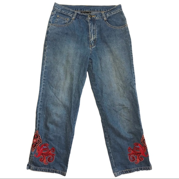 Carol Anderson collection ankle cropped mom jean